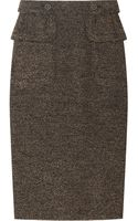 Burberry Prorsum Textured Wool Blend Skirt - Lyst