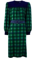 Givenchy Vintage Check Print Dress - Lyst