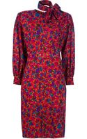 Givenchy Vintage Printed Dress - Lyst