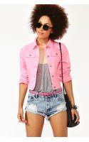 Nasty Gal Neon Denim Jacket Pink - Lyst