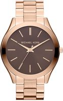 Michael by Michael Kors Michael Kors Slim Runway Bracelet Watch - Lyst