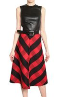 Michael Kors Leather Double Faced Cashgora Dress - Lyst