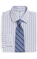 Brooks Brothers Supima Cotton Noniron Slim Fit Alternating Triple Stripe Dress Shirt - Lyst