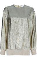 Stella McCartney Metallic Sweater - Lyst
