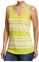 Old Navy Lace Trim Tanks - Lyst