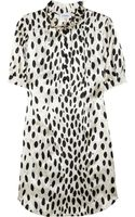 Sonia By Sonia Rykiel Dalmatian Print Satin Dress - Lyst