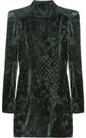 Balmain Devoré Velvet Mini Dress - Lyst