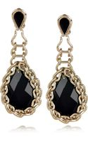Etro Gold-Plated Swarovski Crystal Clip Earrings - Lyst