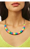 Nasty Gal Rainbow Collar Necklace - Lyst