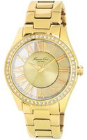 Kenneth Cole Womens Gold Ion Plated Stainless Steel Bracelet 39mm - Lyst