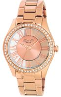 Kenneth Cole Womens Rose Gold Ion Plated Stainless Steel Bracelet 39mm - Lyst