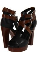 Michael Kors Brown Strappy Sandals - Lyst