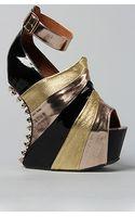 Jeffrey Campbell The Spike Rockstar Shoe in Rose Metallic Multi Exclusive - Lyst