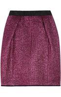 Marc Jacobs Metallic Woolblend Bouclé Skirt - Lyst
