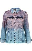 Moto Moto Dip Dye Oversized Denim Jacket - Lyst