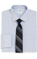 Brooks Brothers Supima Cotton Noniron Slim Fit Mini Endonend Check Dress Shirt - Lyst