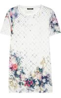 Balmain Printed Cottonjersey Tshirt - Lyst