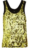 D&G Sequin embellished Chiffon Top - Lyst