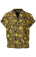 Mary Portas Short Sleeve Snake Shirt - Lyst