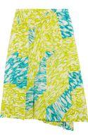 Peter Pilotto Auro Pleated Silk Skirt - Lyst