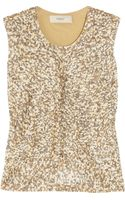 Pringle of Scotland Sequined Fineknit Cotton Top - Lyst