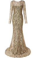 Temperley London Metallic French Lace Gown - Lyst