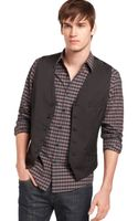 Kenneth Cole Reaction Pinstriped Vest - Lyst