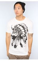 Rook The Wolf Headdress Tee in White - Lyst