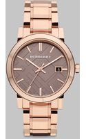 Burberry Check Stamped Stainless Steel Watch - Lyst