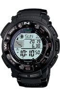 G-shock Digital Pro Trek Black Resin Strap Watch  - Lyst