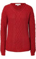 Vanessa Bruno Athé Poppy Cable Knit Pullover - Lyst