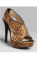 Diane Von Furstenberg Platform Slingback Sandals Zia Haircalf - Lyst