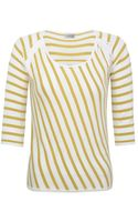 Minuet Petite Yellow Diagonal Stripe Jumper - Lyst