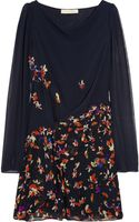 Vanessa Bruno Floral-Print Silk Georgette Dress - Lyst