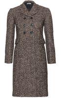 Miu Miu Double-Breasted Tweed Coat - Lyst