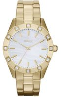 DKNY Womens Gold Ion Plated Stainless Steel Bracelet 36mm - Lyst