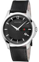 Gucci Mens Swiss Gtimeless Black Leather Strap 40mm - Lyst