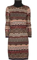 M Missoni Zigzag Crochet-Knit Sweater Dress - Lyst