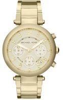Michael Kors Womens Chronograph Parker Gold Tone Stainless Steel Bracelet 39mm - Lyst