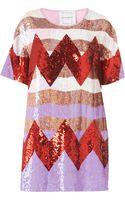 Topshop Zig Zag Sequin Dress - Lyst