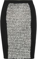 Alexander Wang Woo lBlend and Rubberized Tweed Pencil Skirt - Lyst