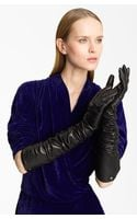 Lanvin Long Lambskin Leather Gloves - Lyst