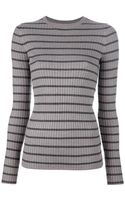 Vince Striped Long Sleeve Top - Lyst