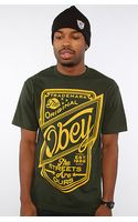 Obey The Streets Are Ours Basic Tee in Heather Green - Lyst