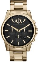 Armani Exchange Gold Ion Plated Stainless Steel Bracelet Watch  - Lyst