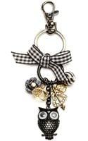Betsey Johnson Owl Key Chain - Lyst