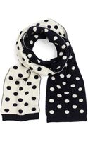 Brooks Brothers Wool and Cashmere Sweater Knit Scarf - Lyst