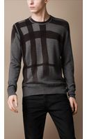 Burberry Brit Check Cotton Cashmere Sweater - Lyst