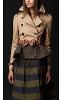 Burberry Prorsum Cotton Tweed Heritage Jacket - Lyst