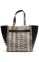 Christian Louboutin Sybil Leather and Python Tote Bag - Lyst